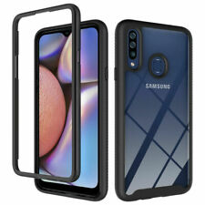 For Samsung Galaxy A20s Case Clear Rugged Armor Shockproof Bumper Back Cover