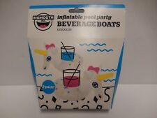 New Big Mouth Inflatable Beverage Boat - Unicorns - Package of 2