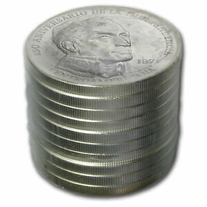 Panama Silver 20 Balboas Original 10 Coin Rolls BU (ASW 38.54) - SKU #77925