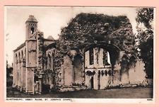 Three vintage unposted postcards. Glastonbury, Abbey Ruins, Somerset