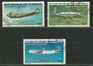 DJIBOUTI 1983 '' AIRPLANES - AVION '' AIR SET USED (503)