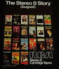 8 Track-RCA August, 1968 New Releases-ORIGINAL Magazine 14 x 10  Ad/Poster!