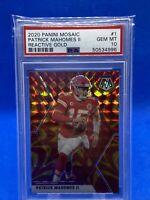 2920 Panini Mosaix Gold Reactive Patrick Mahomes PSA 10