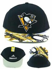 Pittsburgh Penguins New Adidas Repeater Black White Gold Era Snapback Hat Cap