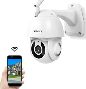 FREDI HD 1080P PTZ WiFi Security Camera with Motion Detection