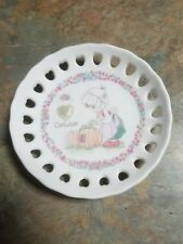 Mint Precious Moments Decorative Plate October Birthstone & stand