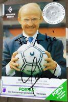 SV Werder Bremen + Handsignierte Autogrammkarte + Willi Lemke - Manager /7