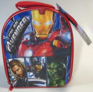 Deluxe Lunch Kit I'm Avenger Iron Man Hulk Captain America Insulated ID Window