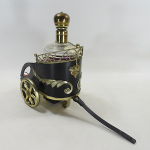 """Vintage Chariot Music Box Liquor Decanter Plays the Song """"How Dry I Am"""""""