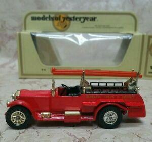 1978 MATCHBOX MODELS OF YESTERYEAR Y6-4 1920 ROLLS ROYCE FIRE ENGINE ISSUE6