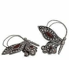 Antique Style 925 Sterling Silver Coral Butterfly Brooch, Pin, NEW