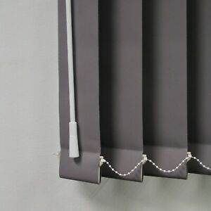 """Grey Blackout Louvres 3.5"""" Vertical Blind Replacement Slats"""