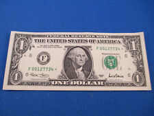 2001 UNITED STATES ONE DOLLAR - STAR NOTE - LOW SERIAL NUMBER