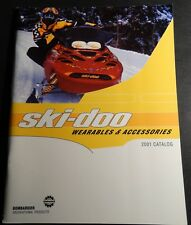 2001 SKI-DOO SNOWMOBILE CLOTHING & ACCESSORIES CATALOG NEW 120+ PAGES   (405)
