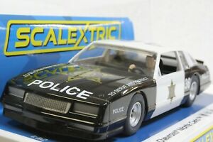 Scalextric C4108 Chevrolet Monte Carlo County Sheriff Police 1/32 Slot Car *DPR*
