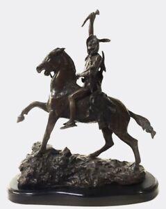 Scalp, Bronze Sculpture, Frederic Remington
