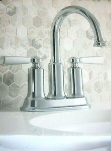 KOHLER Aderlee Polished Chrome 2-Handle WaterSense Bathroom Faucet Lavatory
