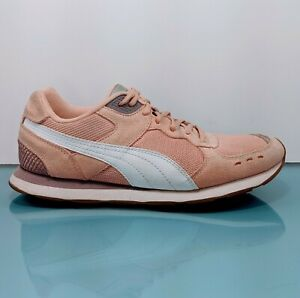 PUMA Vista Lux Womens 11 Pink Suede Mesh 70s Retro Style Sneakers Running Shoes