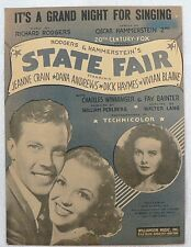"""SHEET MUSIC """" IT'S A GRAND NIGH FOR SINGING """" DATED 1945"""