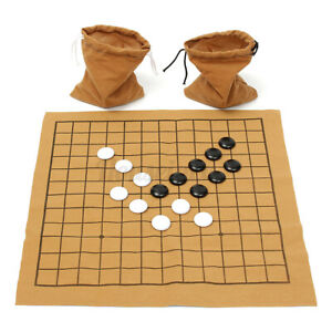 AU 90Pcs Professional Go Game Weiqi Bang Mental Suede Leather Board Sheet  ┘