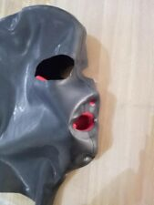 184 Latex Mask with Red Teeth Nose tube