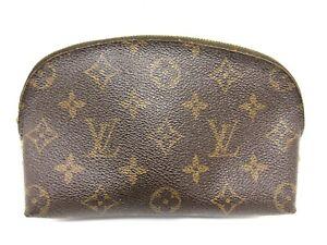 Auth LOUIS VUITTON Monogram Pochette Cosmetic M47515 Pouch PVC Leather 96519