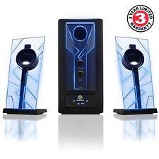 GOgroove BassPULSE Wireless Bluetooth Speakers Subwoofer & Blue LED Glow Lights