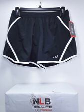 BCG Women's Tru-Wick Running Shorts Mesh Panel Black/White Size Small