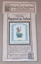 "Examplarery Colonial Williamsburg ""Squirrel in Arbor"" Linen Cross Stitch Kit NIP"