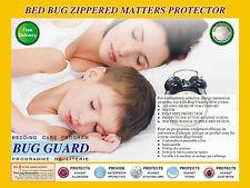 Fermeture éclair anti allergie, anti acariens preuve coutil Protecteur encasemen...