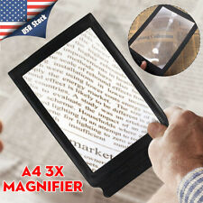 A4 Full Page 3X Magnifier Sheet Magnifying Glass Book Reading Aid Lens Fresnel