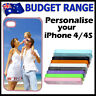 For iPhone 4 4G 4S Personalised PHOTO case hard cover PICTURE IMAGE customised