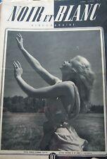 PIN UP en COUVERTURE de NOIR et BLANC No 61 DE 1946 AVIATION NOUVEAUTE PUBLIC