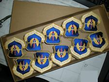 SEALED BOX OF 200 USAF EUROPE USAFE PATCHES - COLOR