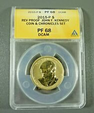 2015-P Reverse Proof Kennedy Coin and Chronicles ANACS PF68 DCAM