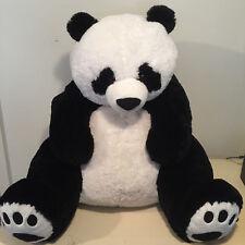 "JUMBO 36"" HUGFUN PANDA BEAR PLUSH STUFFED ANIMAL BLACK WHITE 3 FT TALL"