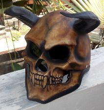 Motorcycle Helmet Skull Hell's Goat Evil Devil Goat 3D Horns Sleepy Hollow NEW