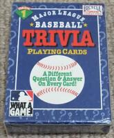 Major League Baseball 1996 Sealed Pack of Trivia Playing Cards