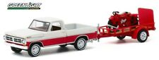 GREENLIGHT 32200 1972 FORD F-100 & UTILITY TRAILER INDIAN MOTORCYCLE  *PRESALE*