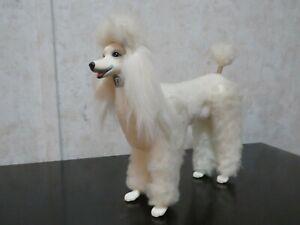"""VINTAGE BARBIE BIG WHITE FLUFFY STANDARD POODLE DOG PET 6.5"""""""