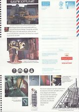 GB Stamps Aerogram / Air Letter APS110 - 1st NVI Glasgow School of Art Issue1995