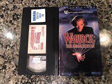 WARLOCK THE ARMAGEDDON VHS! 1993 Witchcraft! The Omen Poltergeist 2 Evil Dead 2
