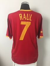 RAUL #7 Spain Player Issue Home Football Shirt Jersey 2002-2004 (XL)