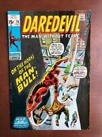 Daredevil #78 (1971) 7.0 FN Marvel Key Issue Comic Bronze Age 1st App Man-Bull