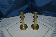 ANTIQUE PAIR OF CANDLESTICK A PUSH BRONZE GOLD PLATED BRASS