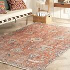 """nuLOOM Rosalia Floral Persian Area Rug, 5' 3"""" x 7' 7"""", Rust"""