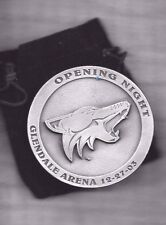 Coyotes Season Ticket Holder Medallion Opening Night Glendale Arena 12-27-03