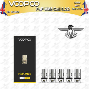 VOOPOO PNP-VM5 MESH COILS 0.2 OHM FOR DRAG S AND DRAG X – PACK OF 5