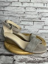 Athena Alexander Size 5 Womens Enfield Wedge Sandals Taupe Suede