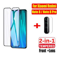 2 in 1 For Xiaomi Redmi Note 8 Pro Camera Lens Glass + 9D Full Screen Protector